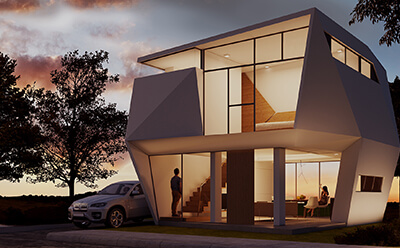 POLYGON HOUSE BY EDUARDO CALMA