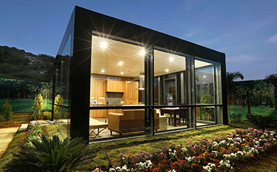 Modular Glass House By Philip Johnson Alan Ritchie Architects on Residential House Plans